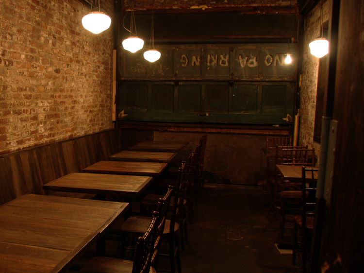 Interior of Samurai Mama, Japanese Izakaya style restaurant in Brooklyn