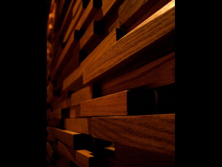 Mr.Robata Restaurant Wood Wall