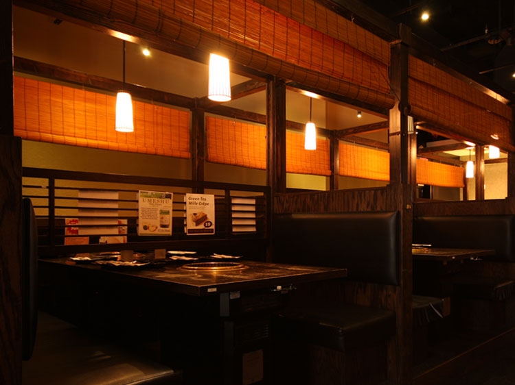 Gyu-Kaku White Plains interior tables with grillers