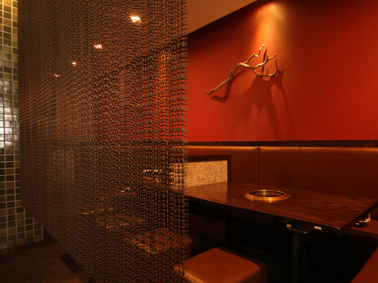 Gyu-Kaku White Plains Interior a horn on red wall