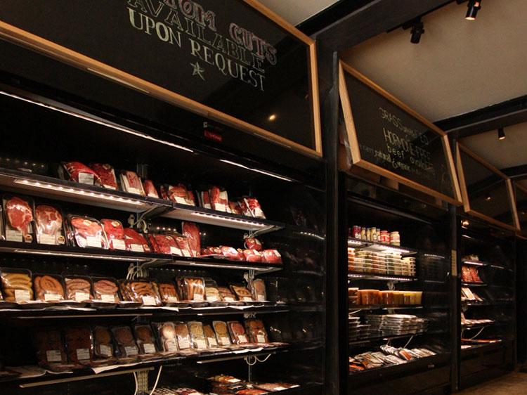 Prime Butcher Baker fridge filled with kosher meat