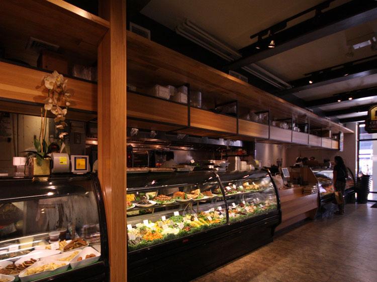 Prime Butcher Baker Interior design Display cases with Kosher food