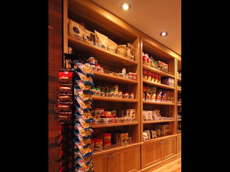 Prime Butcher Baker Interior shelves with Kosher foods