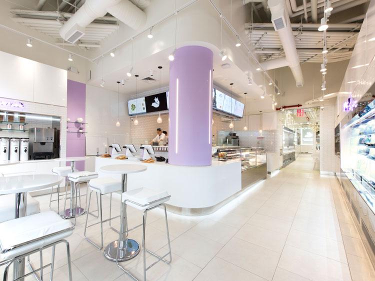Snowfox cafe restaurant NY interior