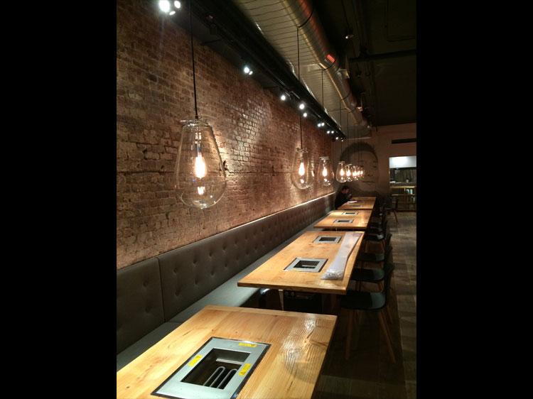 Yakiniku Futago NY interior BBQ Grill 焼肉 ふたご ニューヨーク 内装 工事